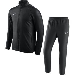 Nike Dry Academy 18 Woven Trainingspak Zwart Donkergrijs   Maat Trainingspakken