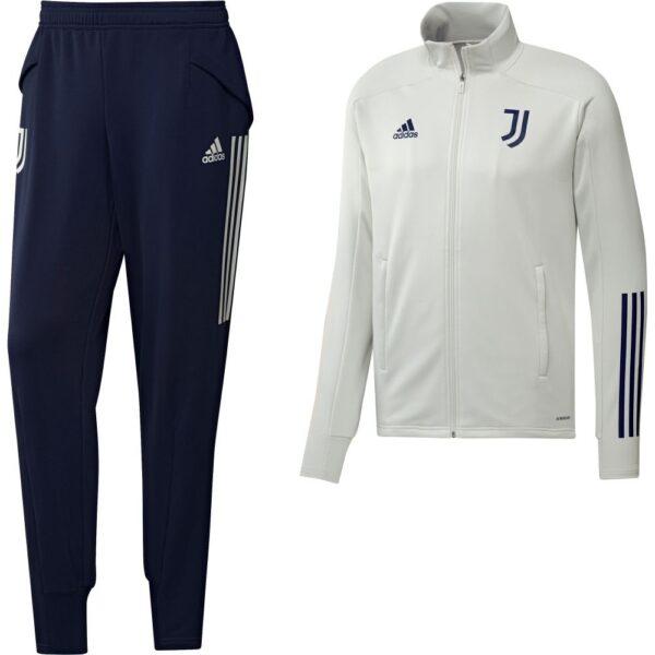 adidas Juventus Trainingspak 2020-2021 Lichtgrijs Donkerblauw
