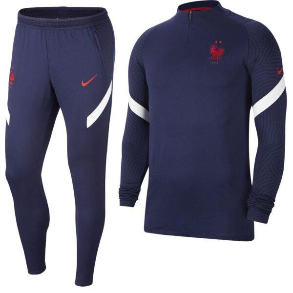 Nike Frankrijk Strike Drill Trainingspak 2020-2022 Donkerblauw