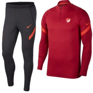 Nike Turkije Strike Drill Trainingspak 2020-2022 Rood Zwart | Maat Trainingspakken
