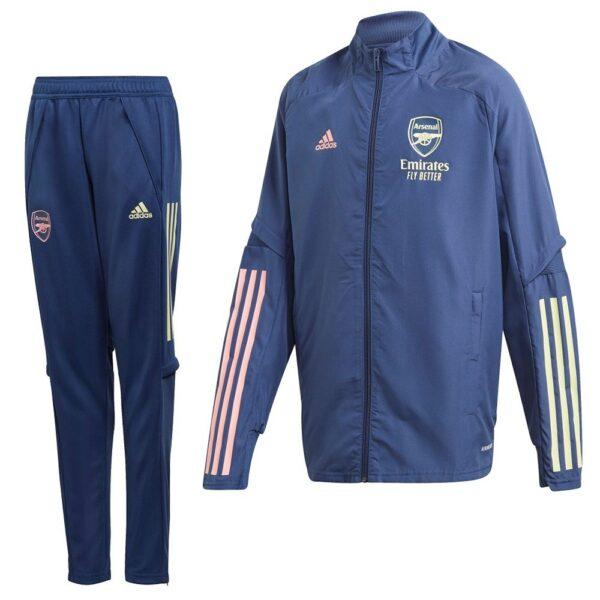 adidas Arsenal Presentatie Trainingspak 2020-2021 Kids Blauw