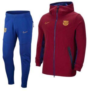 Nike FC Barcelona Tech Fleece Trainingspak 2020-2021 Kids Rood Blauw | Maat Trainingspakken