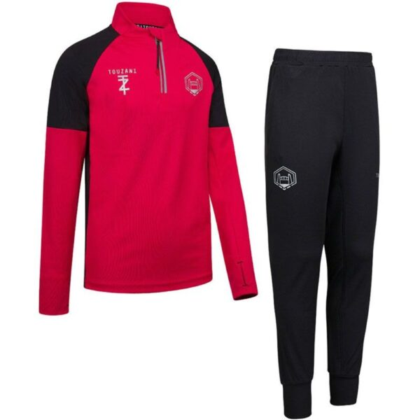 Touzani Shield Trainingspak Kids Rood Roze Zwart